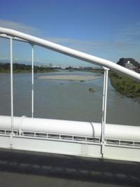 台風18号での多摩川の状況