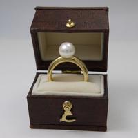 シンプルなあこや真珠の指輪