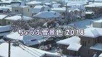 ちょうふ雪景色2018