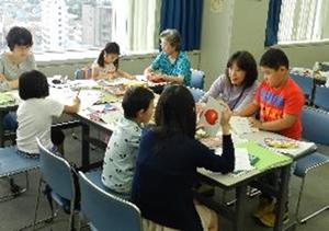 こども教室(調布市立学校日本語教室)のようす