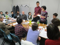 学習者とボランティアの交流会が開催されています