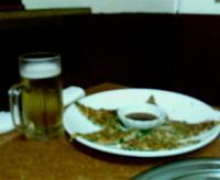 海鮮チヂミ&不飲料