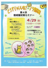 どうすりゃいいのさノラ猫問題 第4回地域猫対策セミナー