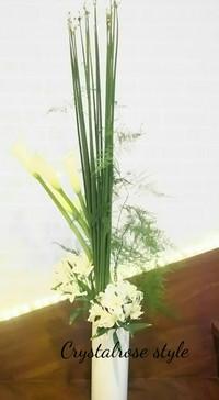 斬新なデザインのお花が出来るいけばなコース