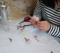 桜のお花がハーバリウムに変身