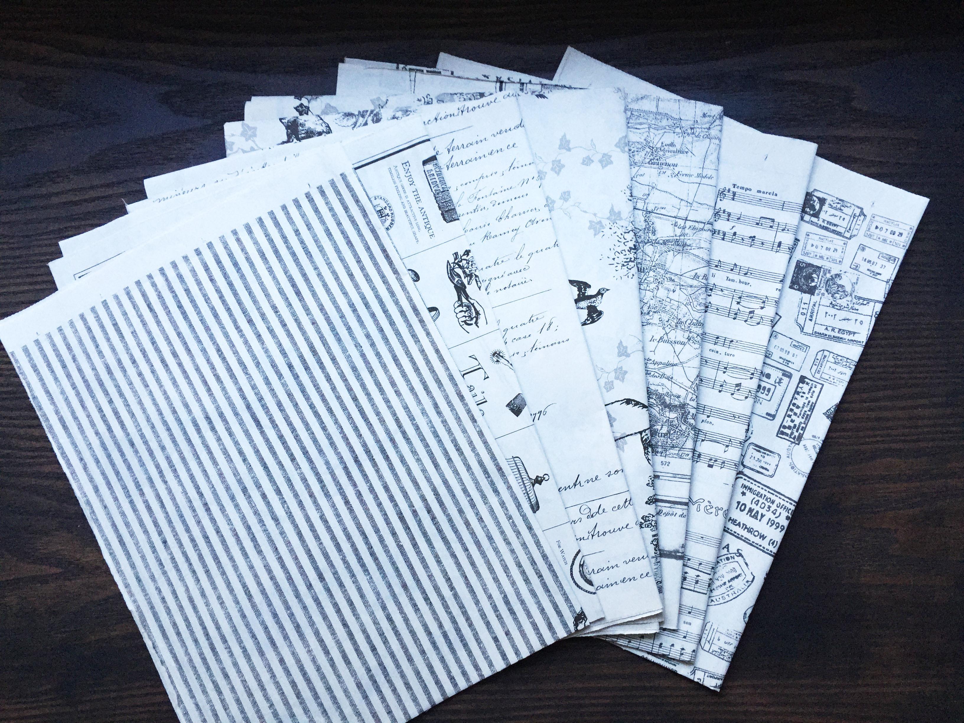 たくさんの紙から選べます