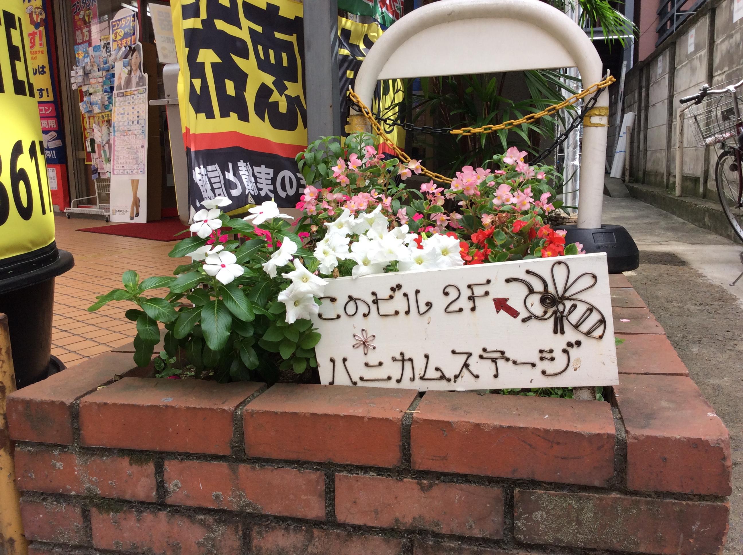 花壇の看板