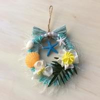 リボンレイ☆Hawaiian New Year Wreath 〜南国っぽいミニしめ縄〜