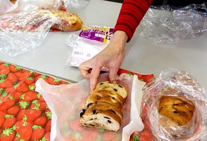 Kさんの差し入れのパン