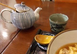 土瓶で出る蕎麦湯