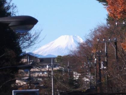 井の頭から見る富士山