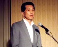 講演する山口伸樹笠間市長
