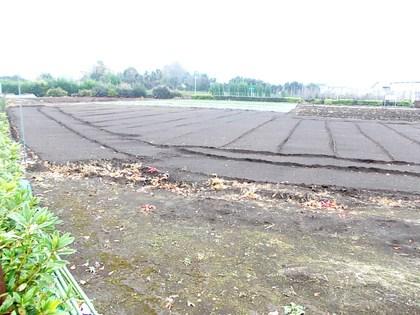 関東ローム層の黒い畑