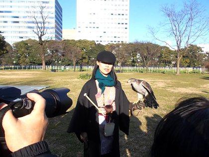 鷹と鷹匠補の勇姿撮影会