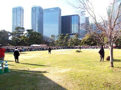 鷹匠の技「放鷹術」に数千の見物客