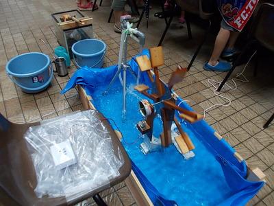わくわくする展示>水力発電の模型
