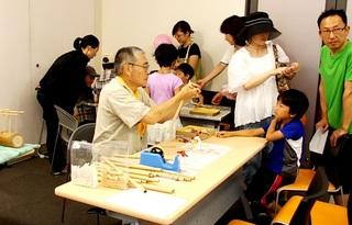 手づくりの笛、竹とんぼ工作