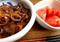 茄子蒲焼&冷やしトマト