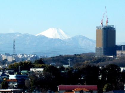 多摩市・関戸公民館から見る富士