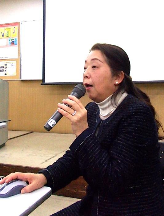 久保律子代表理事の講演