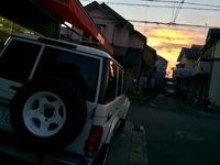 昨日の夕焼けからのお仕事(^o^)