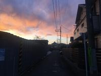 2018.02.07 西八王子の夕焼け空。