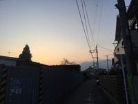 八王子横川町の夕焼けは(^o^)