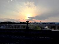 今日の鶴巻橋の夕焼けです。