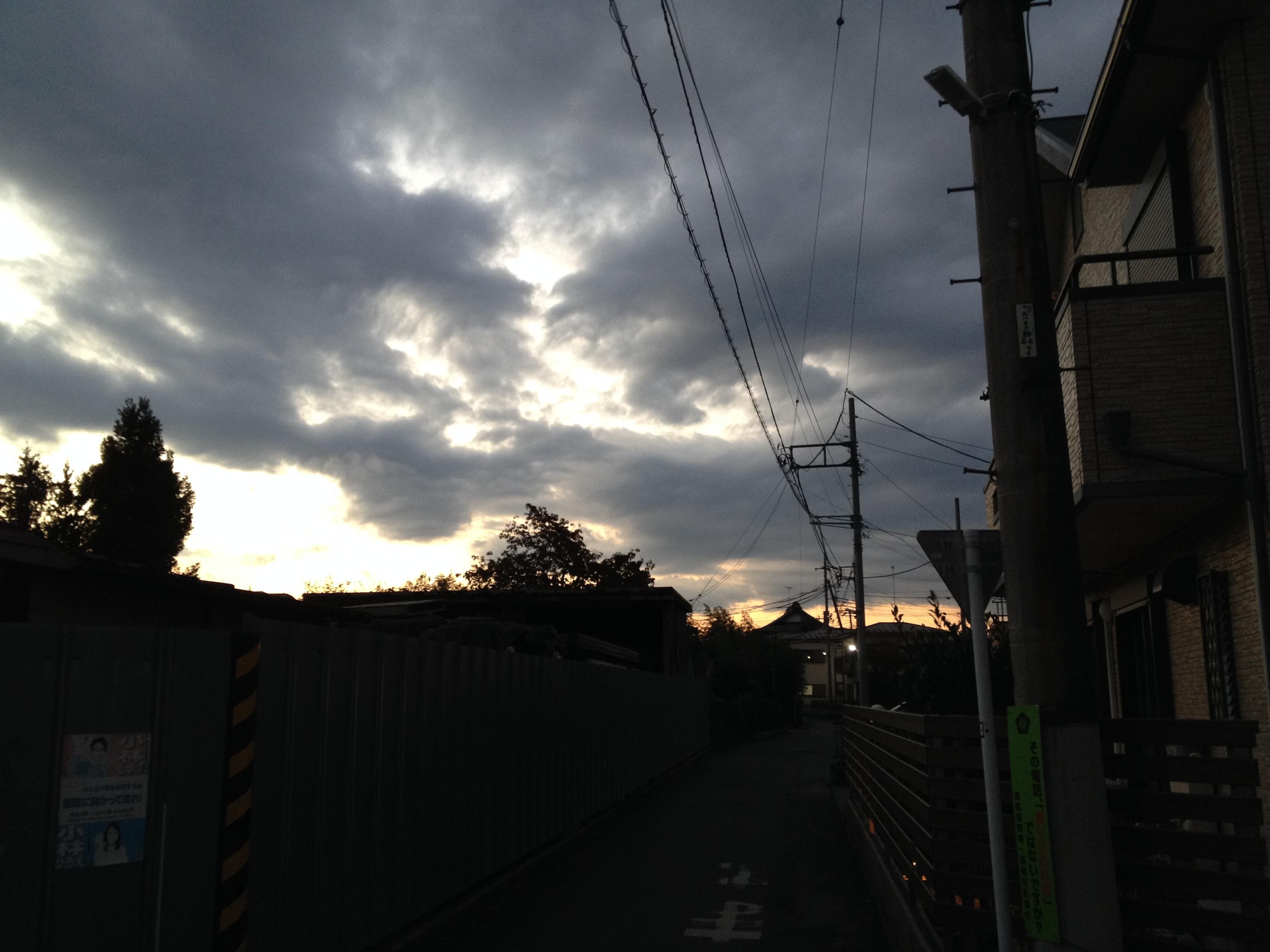4時45分の西空はこうだった(^○^)