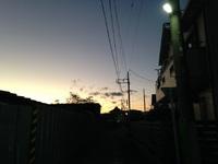 2017.11.24 西八王子の夕焼け空。