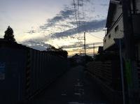 9月18日17時50分西空夕焼け。