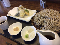 拝島( ´∀`)みのり、お蕎麦。