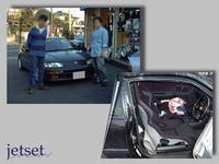 懐かしいお客様の再掲写真:CR-X(ホンダ)にレカロシートの装着でした。