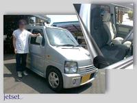 懐かしいお客様登場・ワゴンR(SUZUKI)にレカロシートの移設装着でした。