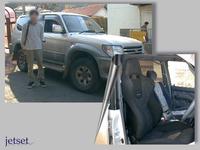 懐かしいお客様写真の再掲:トヨタランクルにRECARO-SP-JJの装着模様です。