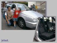 懐かしいお客様の再掲写真:ゴルフ(VW)にレカロシートの装着でした。