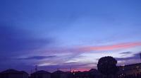 田舎で見た夕焼け