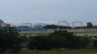 多摩川からの夏の富士