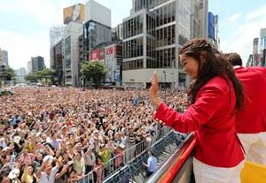 前回のパレードは50万人の人出