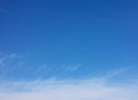 八王子上空、妙に飛行機がよく見えた