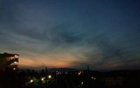 スーパームーン前夜の八王子、ほぼ満月の写真