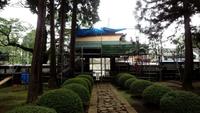 山田の廣園寺は3月末まで復旧工事中