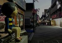 鬼太郎がいる調布駅北口・天神通り商店街 2016/12/15 08:10:00