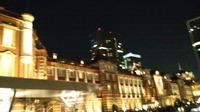 東京駅の夜景を米沢の友と