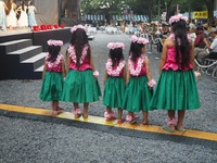 子供フラダンス 是政八幡神社で踊ります