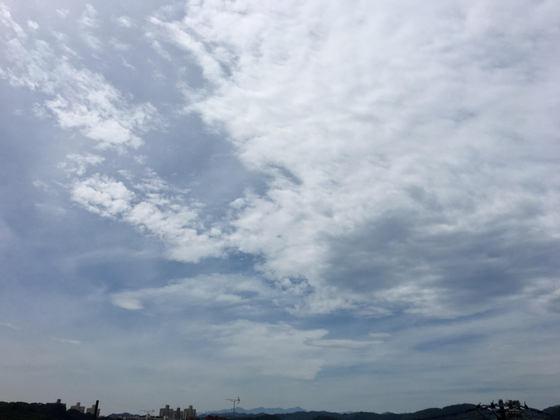 2017年8月25日の空(雲がたくさん)