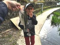 息子と釣り