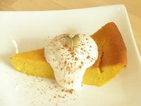 【気まぐれ新作】かぼちゃのチーズケーキ