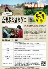 ☆野菜のお土産付☆八王子小比企の畑見学体験ツアーを開催します!! 2018/05/23 20:19:00