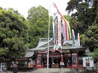 日枝神社にこいのぼり・・